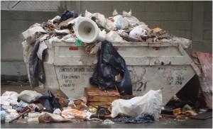 Lixo na caçamba dos outros é refresco