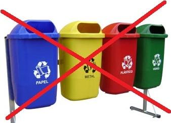 Quando quatro lixeiras de recicláveis não fazem sentido para coleta seletiva